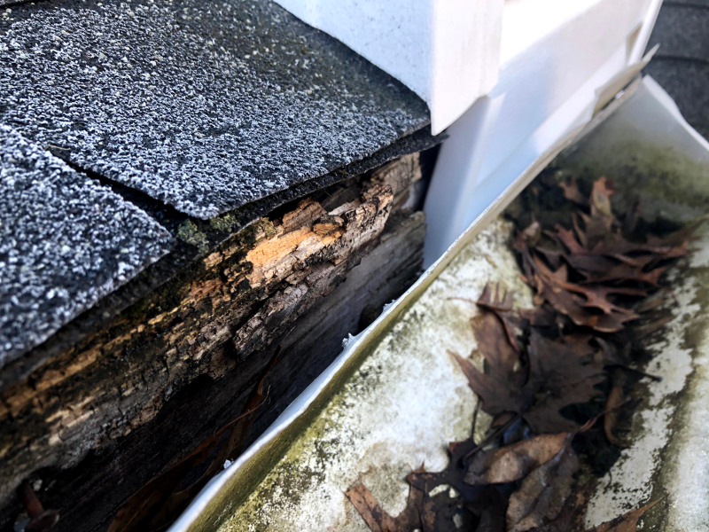 New Gutter Over Rotted Gutterboard